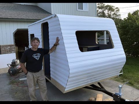 Home Built Travel Trailer Part 34 Installing The Rubber Roof Siding Part 2 Youtube Tiny Camper Diy Travel Trailer Build A Camper