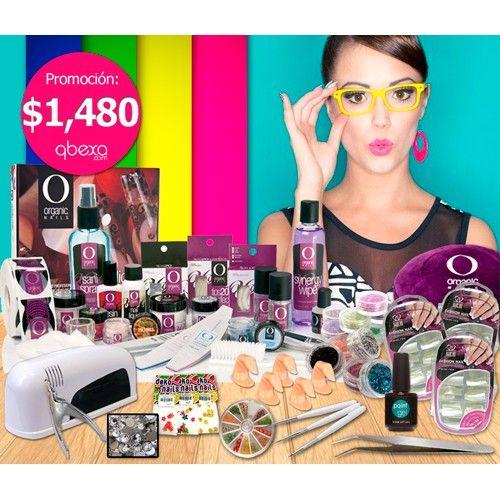 inicia tu negocio, paquete Organic Nails con lámpara de 12w, Point Gel, decoración y envío gratis.