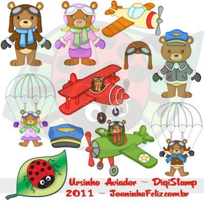 Ursinho Aviador, Teddy Aviator, Digital kits