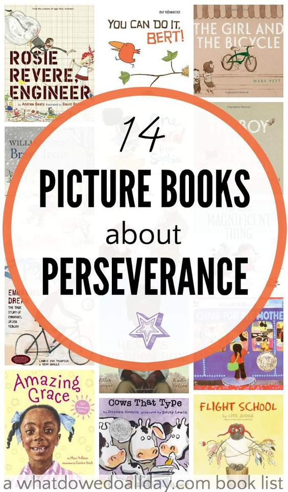 Teach growth mindset with picture books about perseverance and determination for kids. Good for the classroom and at home.