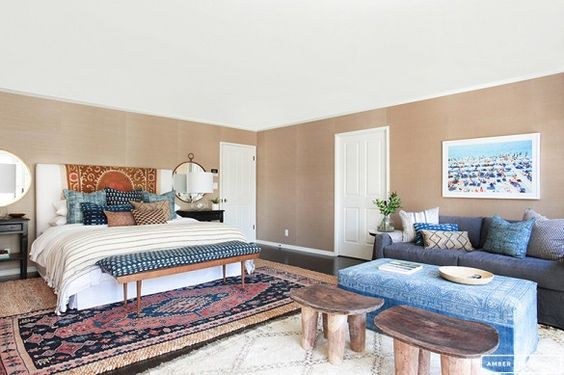 Before and After: A Perfectly California Eclectic Bedroom via @domainehome: