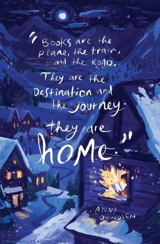 Los libros son el avión, el tren y la carretera. Son el destino y el viaje. estan en casa.