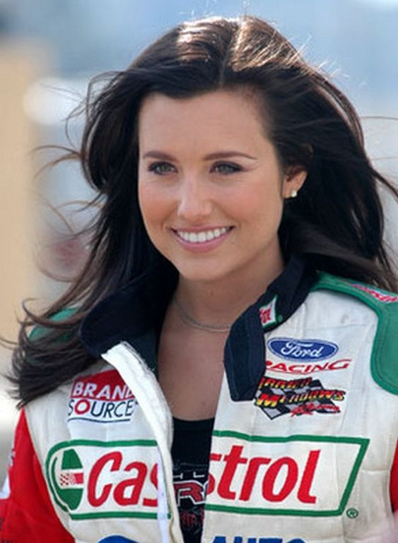 NASCAR driver Ashley Force.  You mean Drag Racing Driver!!!