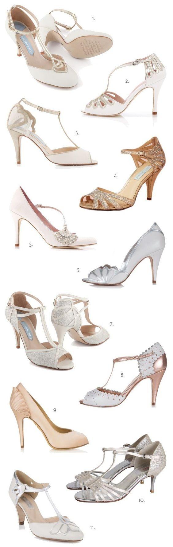 Vintage wedding heels TDF!