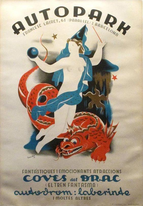Spanish art art deco posters and spanish on pinterest - Art deco barcelona ...