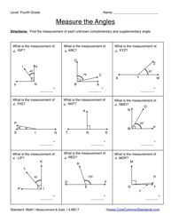Common Core Worksheet - 4.MD.7 | Worksheets, Common Cores and Angles