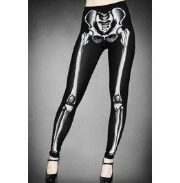 Skeleton Print Graphic Leggings
