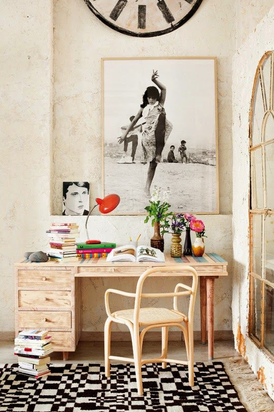 Eclectic workspace   Daily Dream Decor