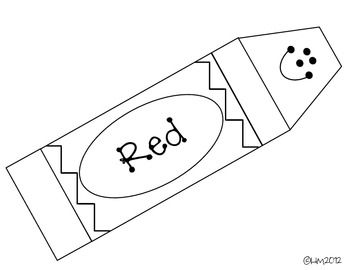 Best ideas about preschool colors shapes daycare colors for Crayon labels template