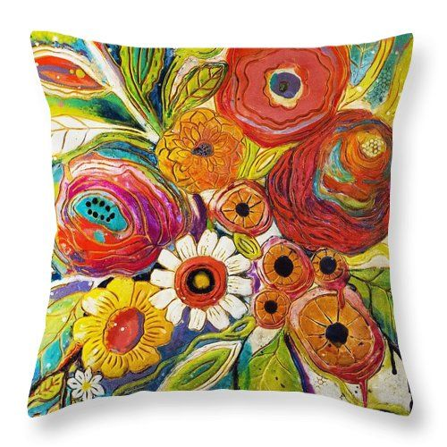 Garden Party Throw Pillow For Sale By Jackie Cort In 2021 Throw Pillows Designer Decorative Pillows Pillow Art