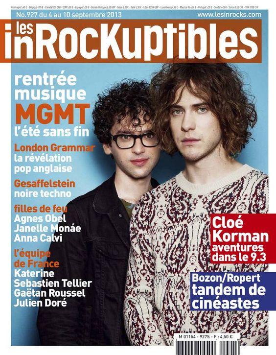 Les Inrockuptibles - N° 927 - Mercredi 4 Septembre 2013