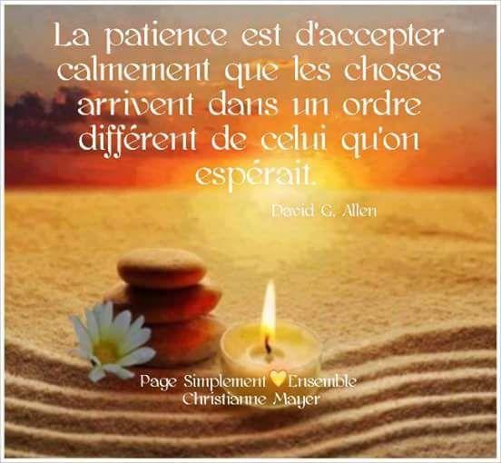 """""""La patience est d'accepter calmement que les choses ... Happy Smile Quotes About Life"""