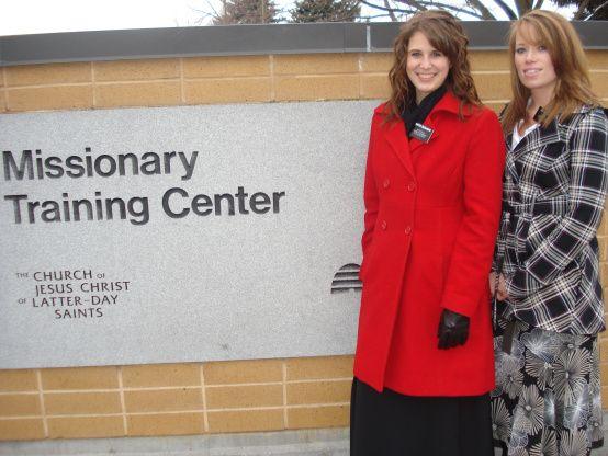 Sister Nielson and Sister Buchanan at the MTC