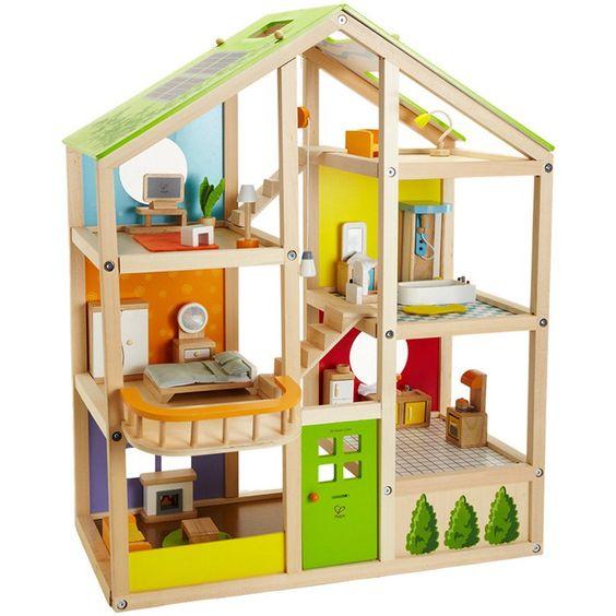 Casa de mu�ecas de madera con muebles - Hape