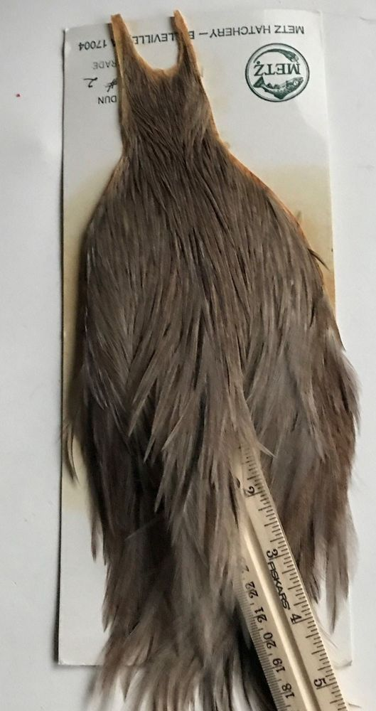 50 WHITING METZ  ROOSTER SADDLE HACKLE FLY TYING FEATHERS ASST grizzly dun etc.
