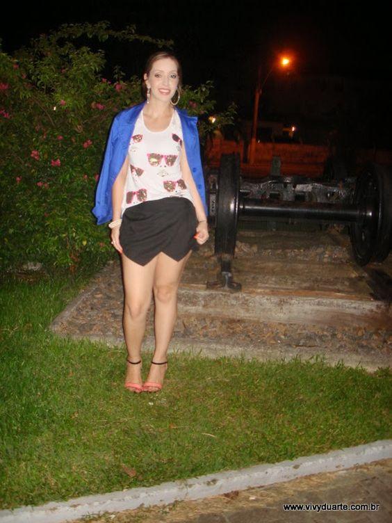 Vivy Duarte: Look do Dia: Black, Blue & White