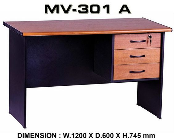Meja Kantor Uk.120 x 60 x 73 + Laci Gantung Rp.483.000  Hubungi Shine Furniture https://www.shineofficefurniture.com/