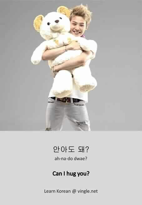 """""""Can I hug you?"""" aww GD oppa! (≧◡≦)"""