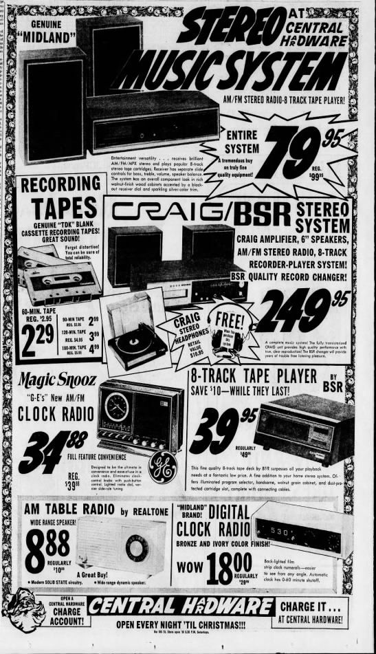 Christmas 2020 In Saint Louis Mo Electronics at Central Hardware, 1972 in 2020 | St louis mo, Tape