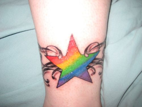 pride tattoo rainbows and rainbow star on pinterest. Black Bedroom Furniture Sets. Home Design Ideas