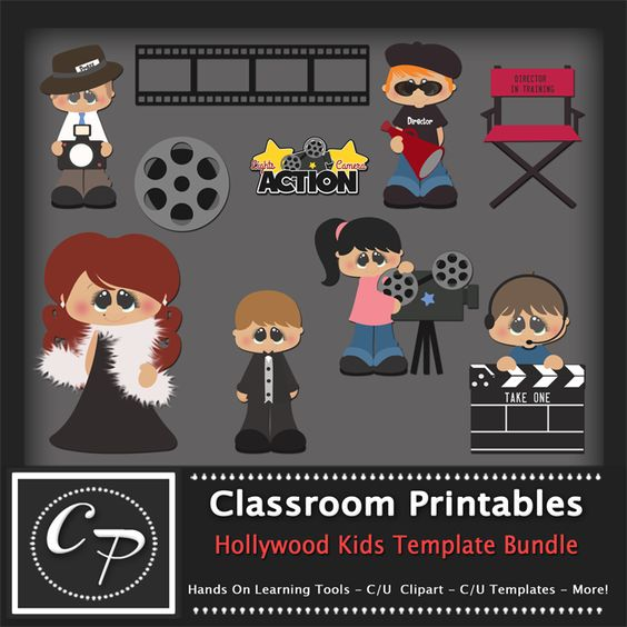 Hollywood Kids Template Bundle
