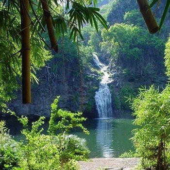 cascade des trois bassins à saint denis. La Réunion