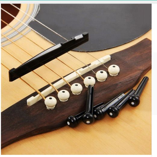 Acoustic Guitar Bridge Pins With Saddle Nut Guitar Parts Accessories Black White Unbranded Guitar Parts Guitar Acoustic Guitar