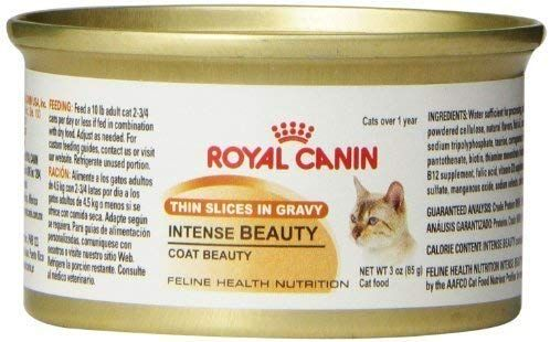 Royal Canin Canned Cat Food Intense Beauty Thin Slices In Gravy Pack Of 24 3 Ounce Cans By Royal Canin D Canned Cat Food Feline Health Cat Food Allergy