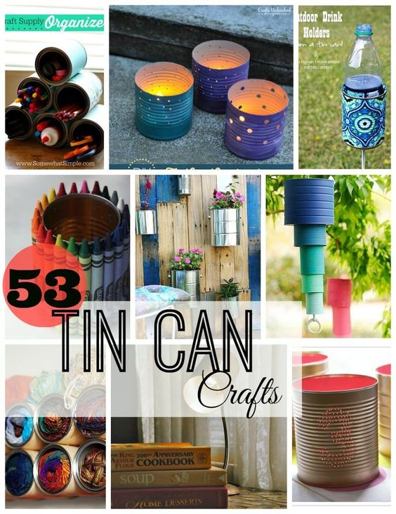 53 tin can crafts tin can crafts formula cans and tin cans for Large tin can crafts