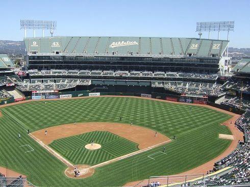 Alwaysfunenergyhere A S Oakland Alameda Stadium Field View Baseballfield Oakland Coliseum Mlb Stadiums Baseball Park