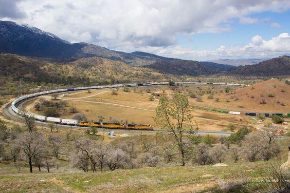 tehachapi loop | Am Tehachapi Loop März 2014,Hg max 37 km/h,die Bergstrecke hat eine ...