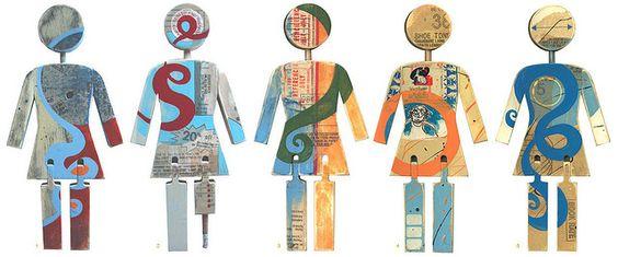Wooden Girl dolls by Andy Jenkins Sampling, via Flickr