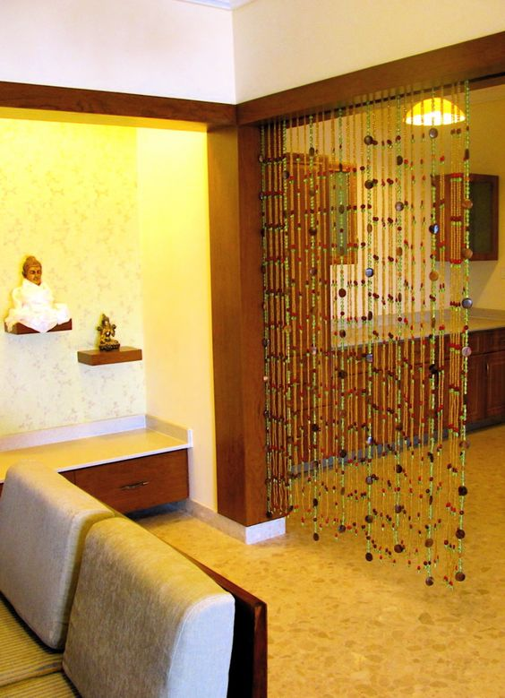 Bead curtain as room divider | Living Room | Pinterest | Beaded ...