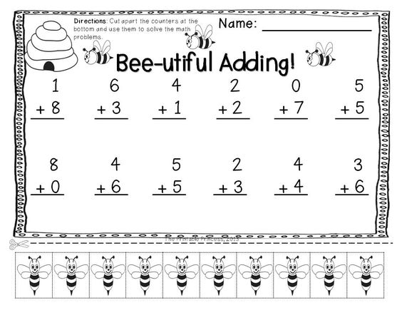 Addition and Subtraction Practice Pages With Cut Apart Counters – Vertical Addition and Subtraction Worksheets