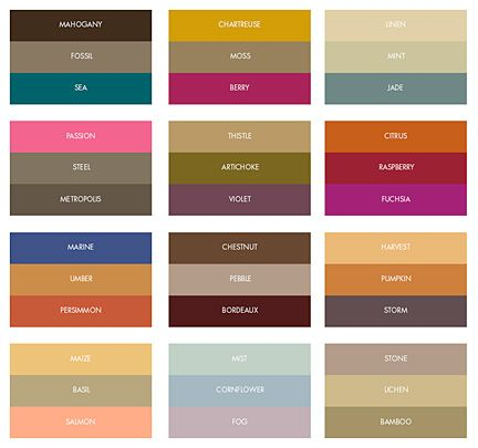 Custom Printed Color Combinations For Fall Weddings Color