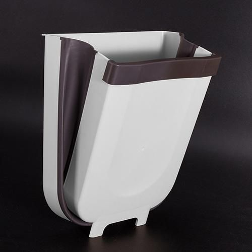 Trash Can Kitchen Wall Mounted Garbage Bin Foldable Waste Bins In 2020 Kitchen Trash Cans Trash Bins Trash Can For Car