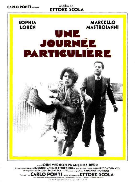 """""""Une journée particulière"""" - Film d'Ettore Scola (1977)  avec Sophia Loren et Marcello Mastroiani.-"""