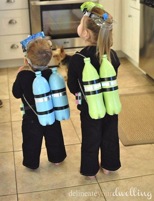 Scuba Diver | 17 Ridiculously Easy Halloween Costumes For Kids You Can Make In An Afternoon