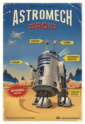 Star Wars R-D2 Astromech Droid Giclee on Paper by Steve Thomas