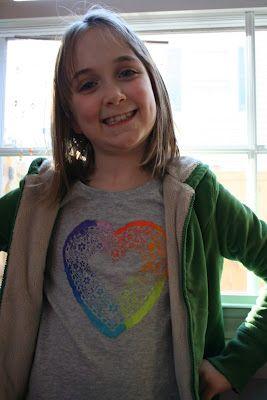 Valentine's Day T-Shirt Tutorial: Heart Doily Shirt