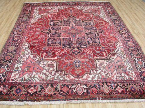 9x11-Authentic-1950s-Persian-Heriz-Serapi-Oriental-area-rug
