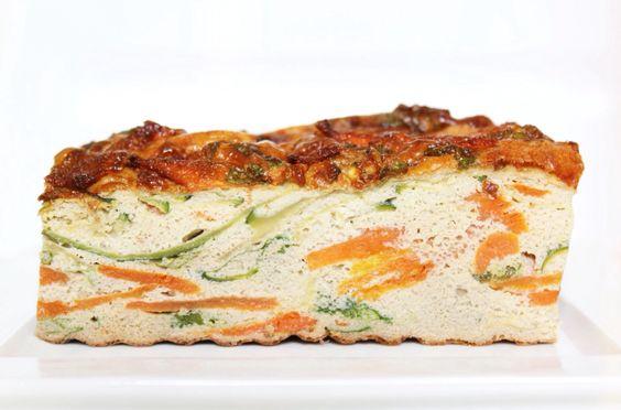 Carrot Zucchini and Cilantro #Egg bake . Wortel, Courgette en #Ei brood . noreshen.com