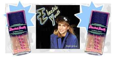 Debbie Gibson's Electric Youth perfume!  I remember seeing it sold at the Drug Emporium, always wanted some!