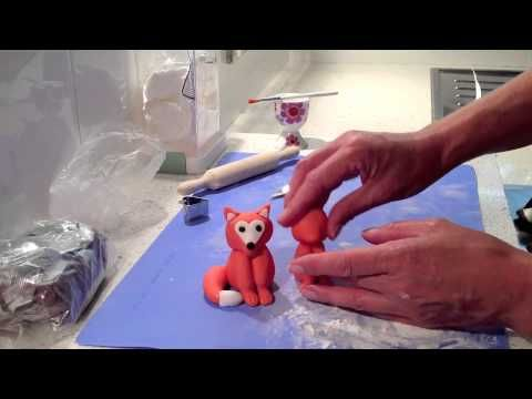 how to make a squirrel from fondant