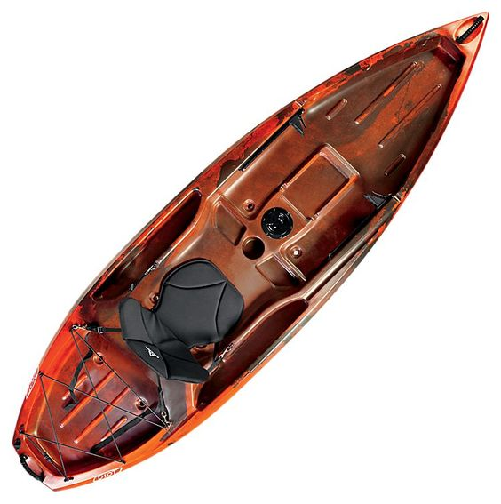 Ascend d10t sit on top kayak red black bass pro shops for Bass pro fishing kayak