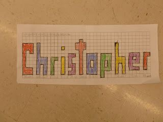 Create name on grid paper. Figure out perimeter of each letter. Add all letters to find total perimeter. Anchored In 3rd Grade