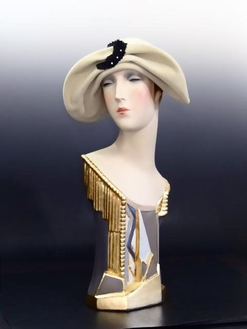 Vintage Mannequin Art Deco Shop Display For Hats Millinery Jewelry 1920 S Restored Head Bust Sculpture Mannequin Art Art Deco Jewelry Vintage Vintage Mannequin