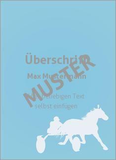 Muster Sporturkunde, Urkunde, Pferdesport Sportarten Grafik Pferdesport