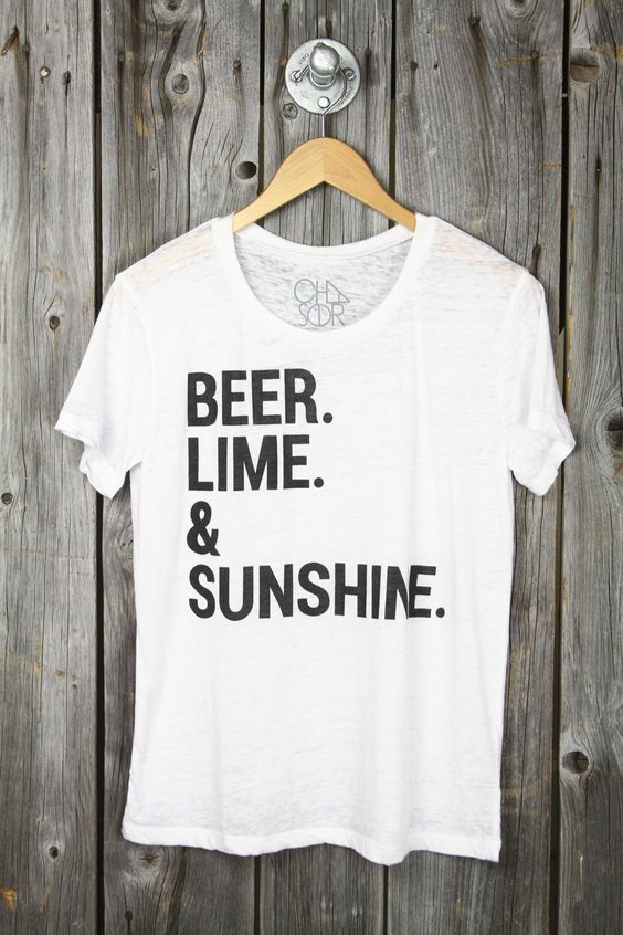 CHASER 'Beer, Lime & Sunshine' Burnout Tee