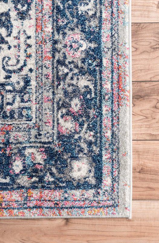 Burciaga Oriental Blue Area Rug With Images Red Area Rug